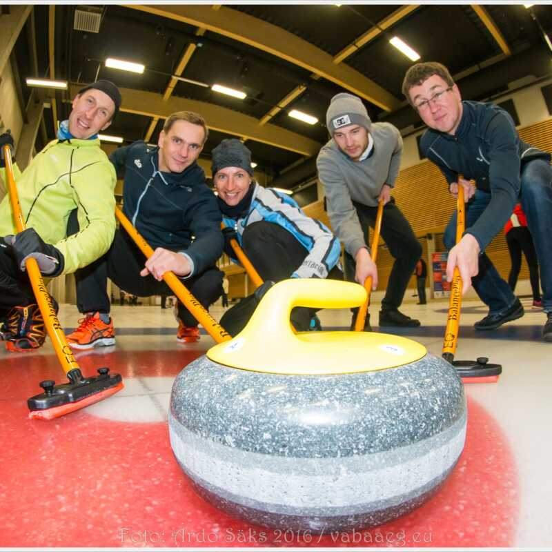 Kevadspartakiaad'16: curling / foto: Ardo Säks