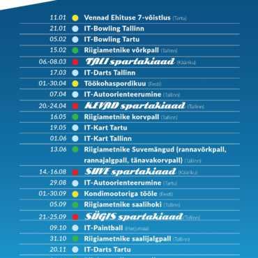 Värske 2020 kalender pakub firmasportlastele uusi alasid!