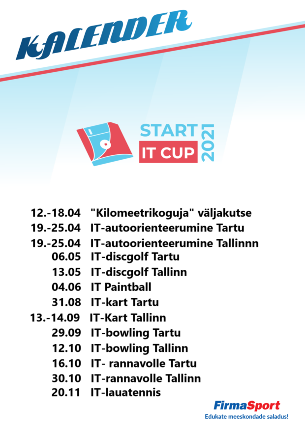 Start IT CUP 2021 uus png